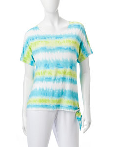 Cathy Daniels Blue / Green Shirts & Blouses