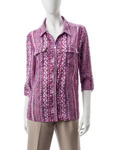 Notations Purple Shirts & Blouses