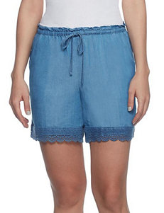 Skyes The Limit Light Wash Denim Shorts Soft Shorts