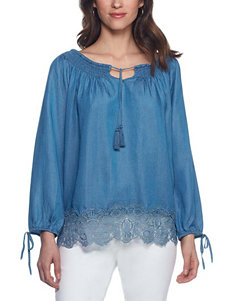 Skyes The Limit Light Blue Shirts & Blouses