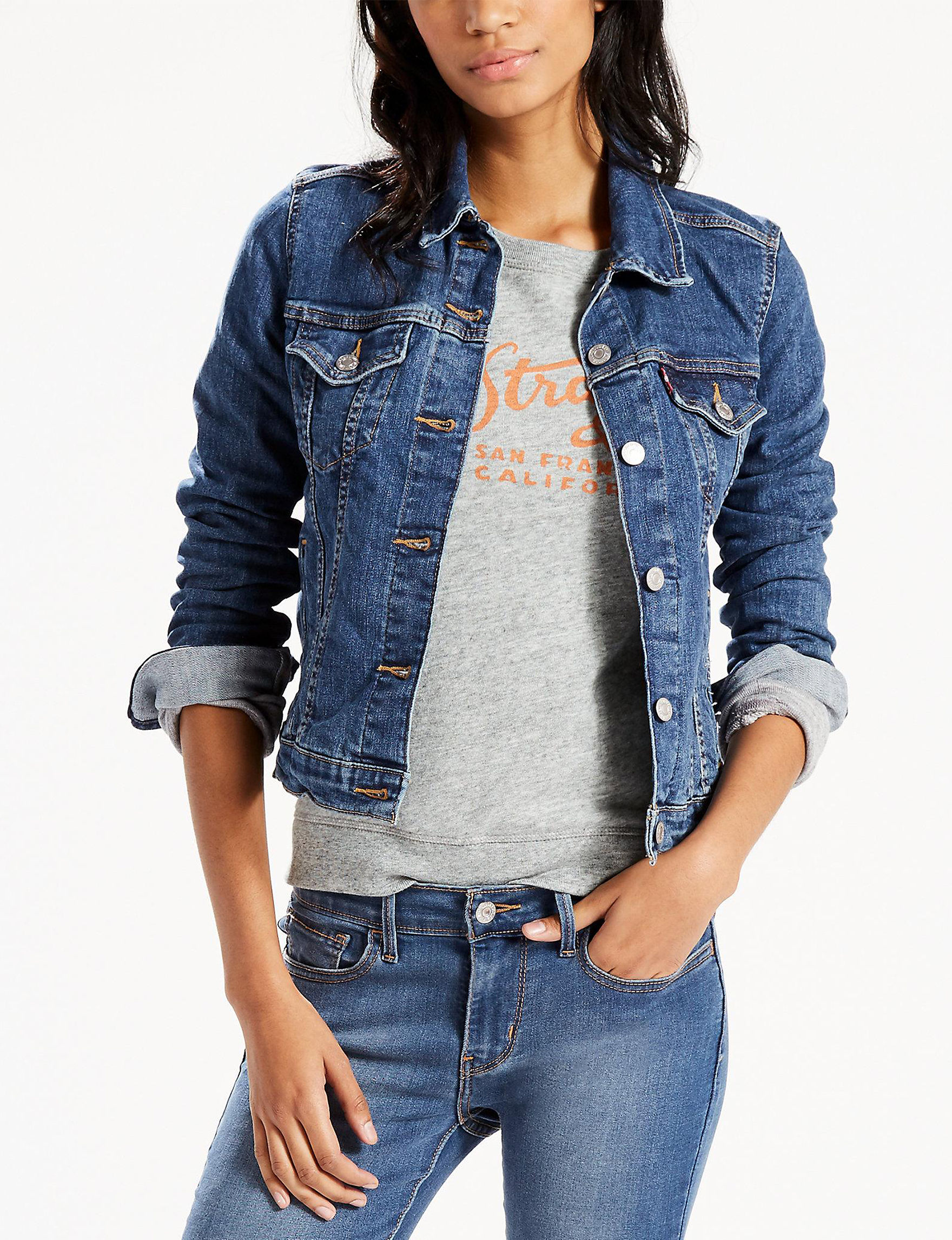 Levi's Medium Blue Denim Jackets