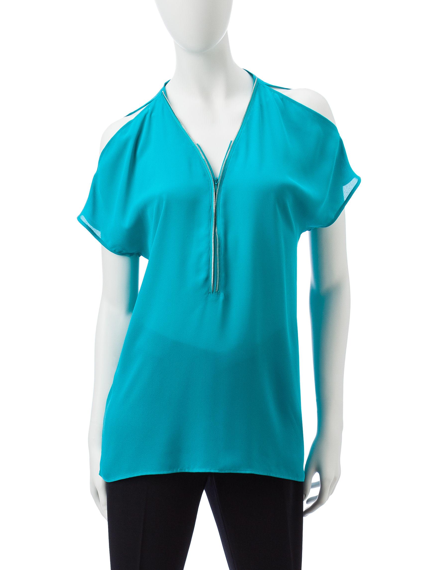 Valerie Stevens Turquoise Shirts & Blouses