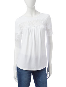 Valerie Stevens White Shirts & Blouses