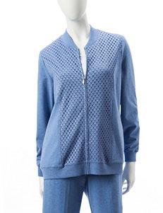 Alfred Dunner Blue Lightweight Jackets & Blazers
