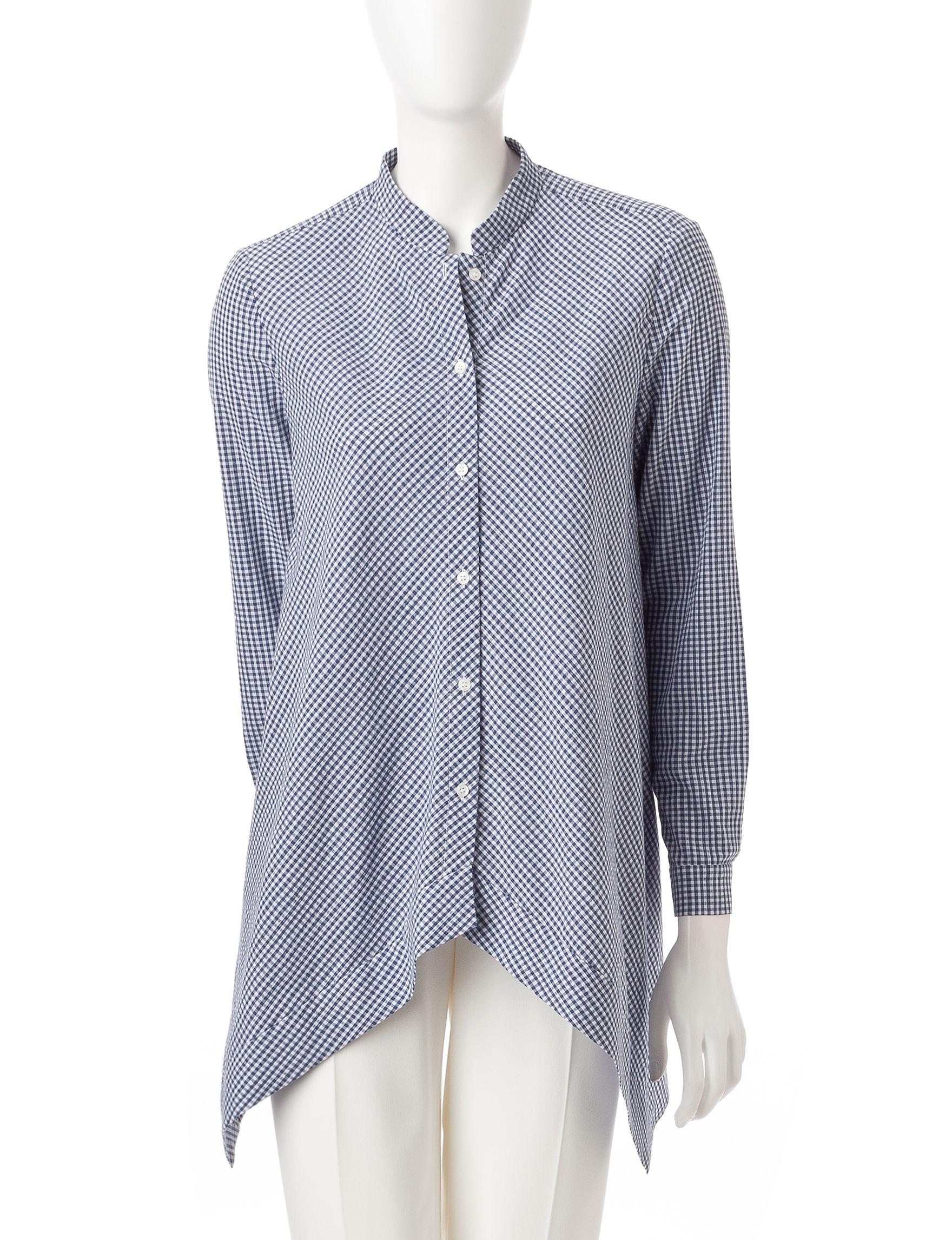 Anne Klein Blue / White Shirts & Blouses