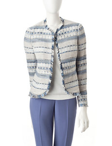 Anne Klein Blue / White Lightweight Jackets & Blazers