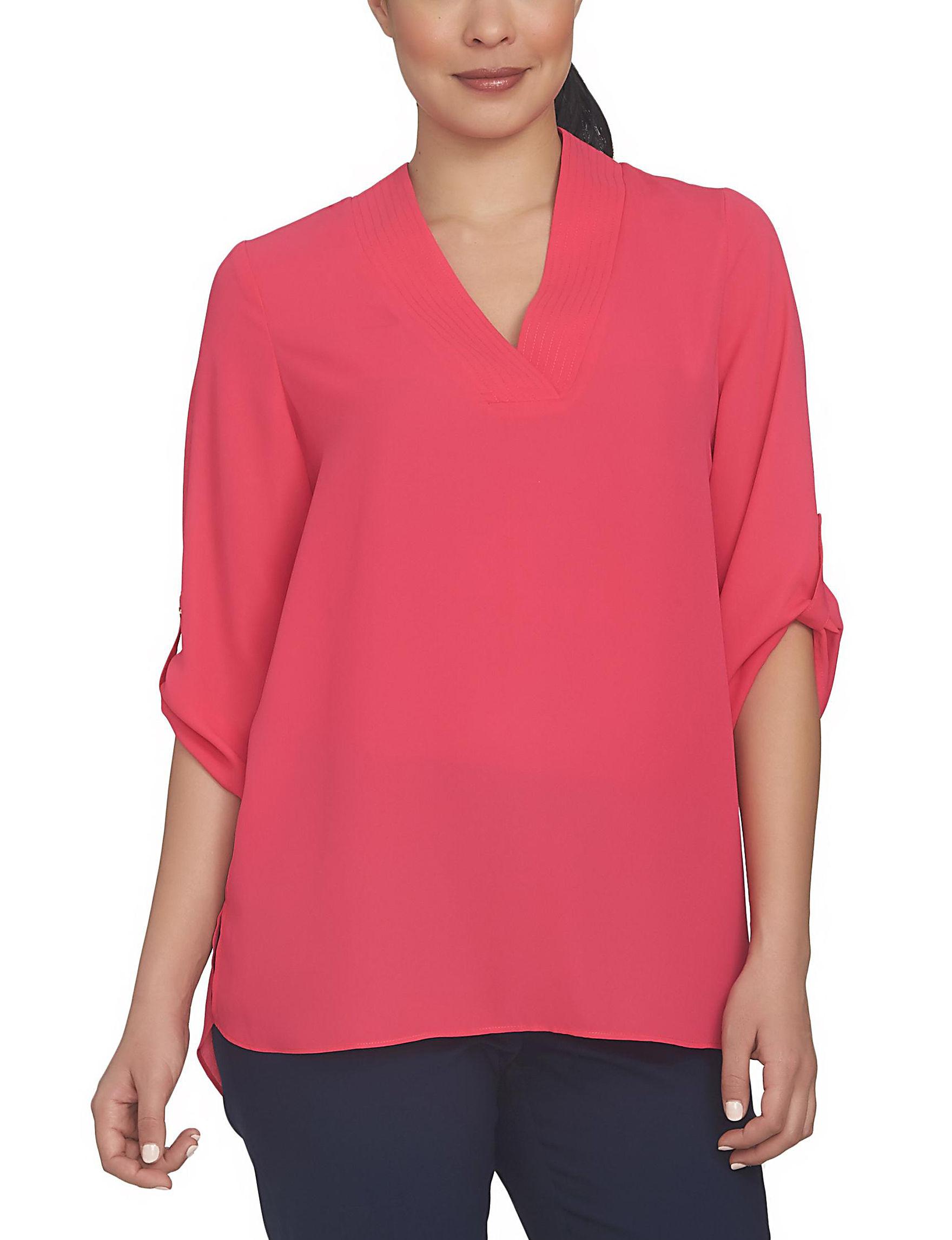 Chaus Pink Shirts & Blouses
