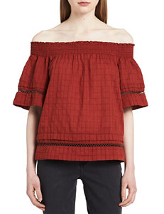 Calvin Klein Jeans Dark Red Shirts & Blouses