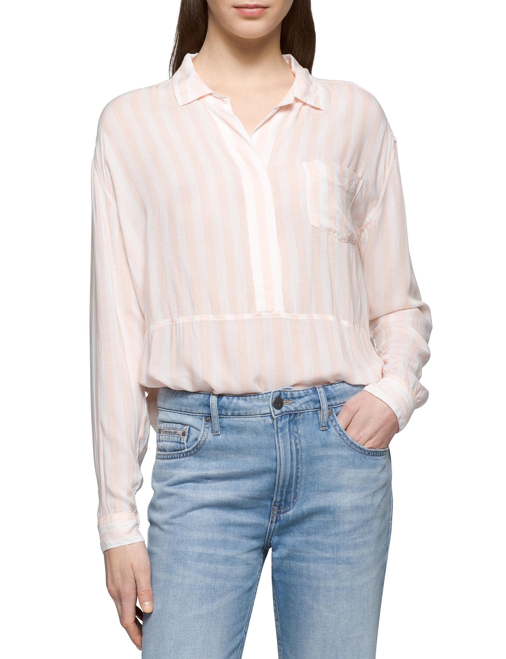 Calvin Klein Jeans Pink Shirts & Blouses