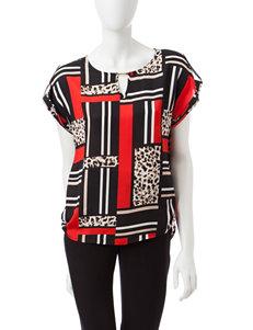 Calvin Klein Black Leopard Shirts & Blouses