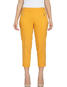 Chaus Dark Yellow Capris & Crops