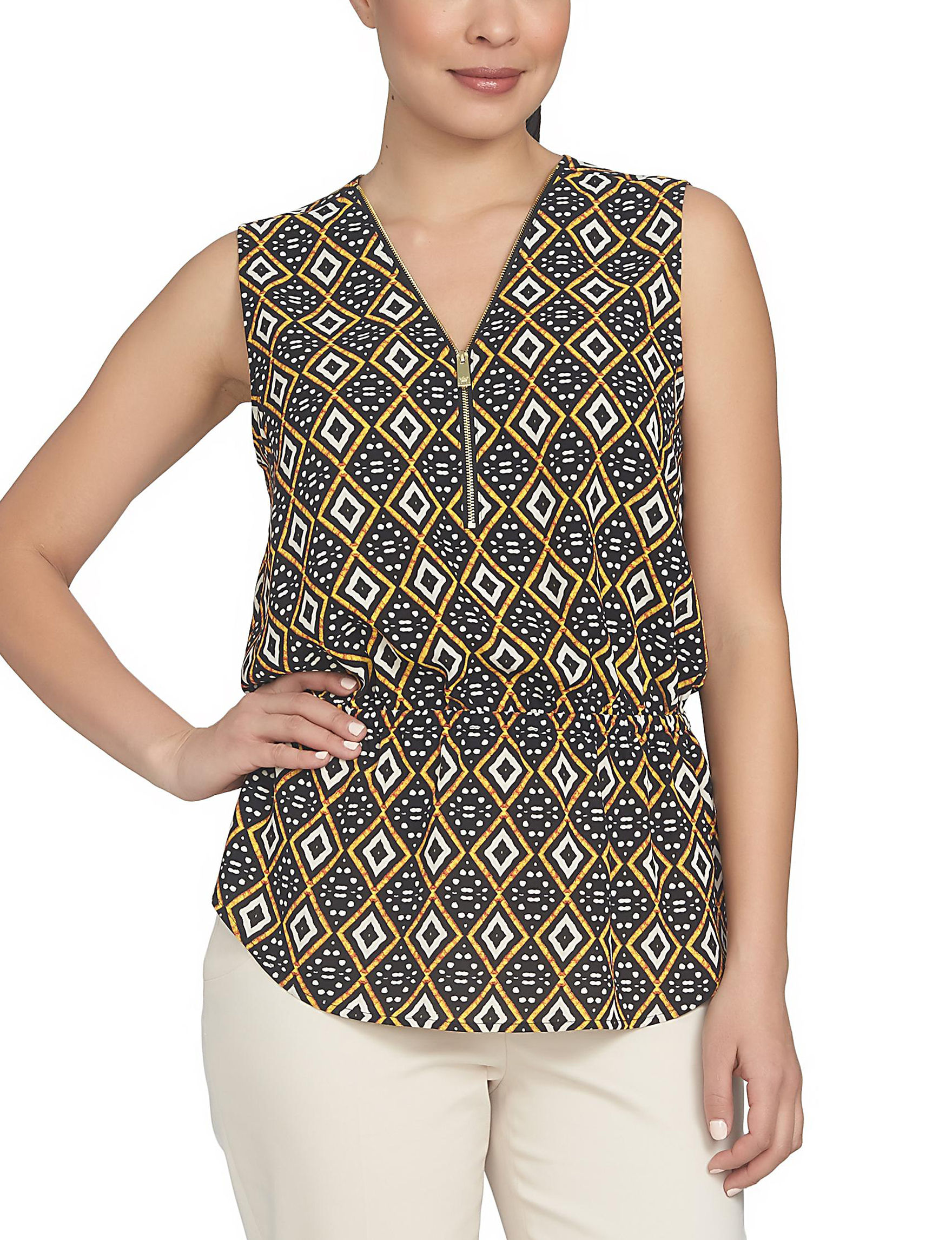 Chaus Brown Multi Shirts & Blouses
