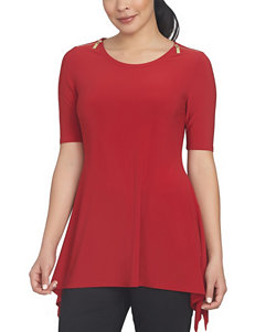Chaus Bright Red Shirts & Blouses