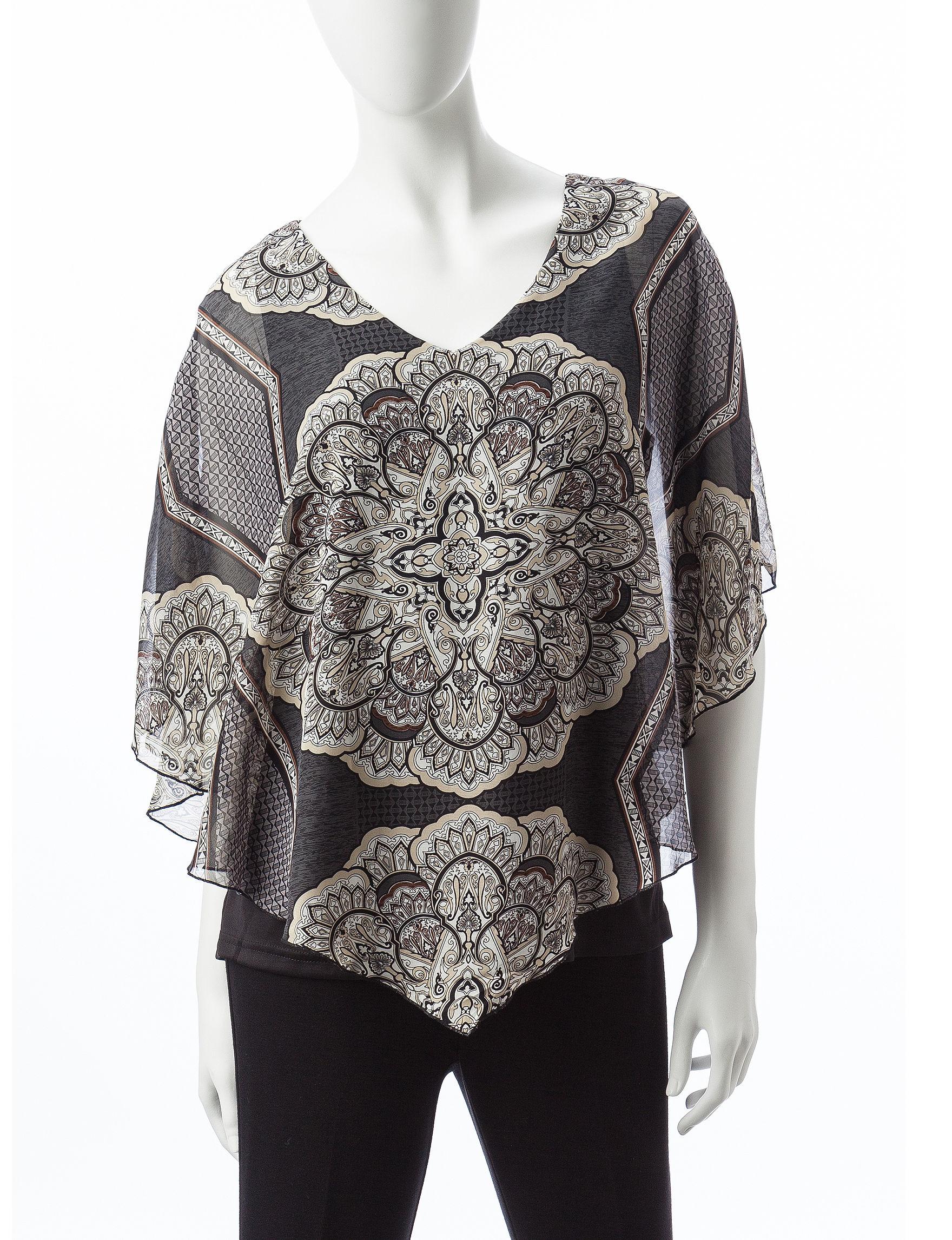 Sara Michelle Grey Multi Shirts & Blouses