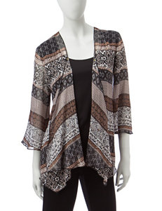 Sara Michelle Brown Multi Shirts & Blouses