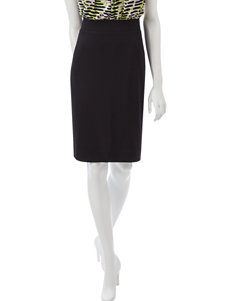 Kasper Ribbed Knit Pencil Skirt