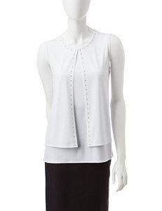 Kasper White Shirts & Blouses
