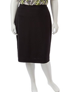 Kasper Plus-size Ribbed Knit Pencil Skirt