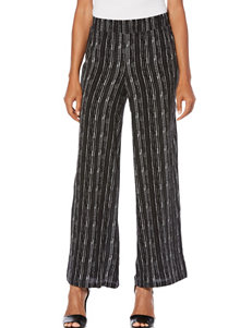 Rafaella Striped Print Knit Pants