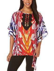 Rafaella Abstract Tribal Tunic Top