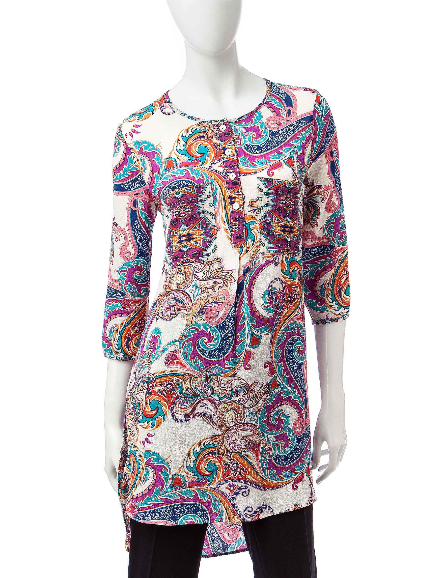 Valerie Stevens Peach Shirts & Blouses