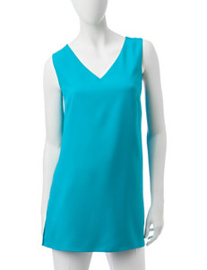Valerie Stevens Turquoise Camisoles & Tanks Shirts & Blouses