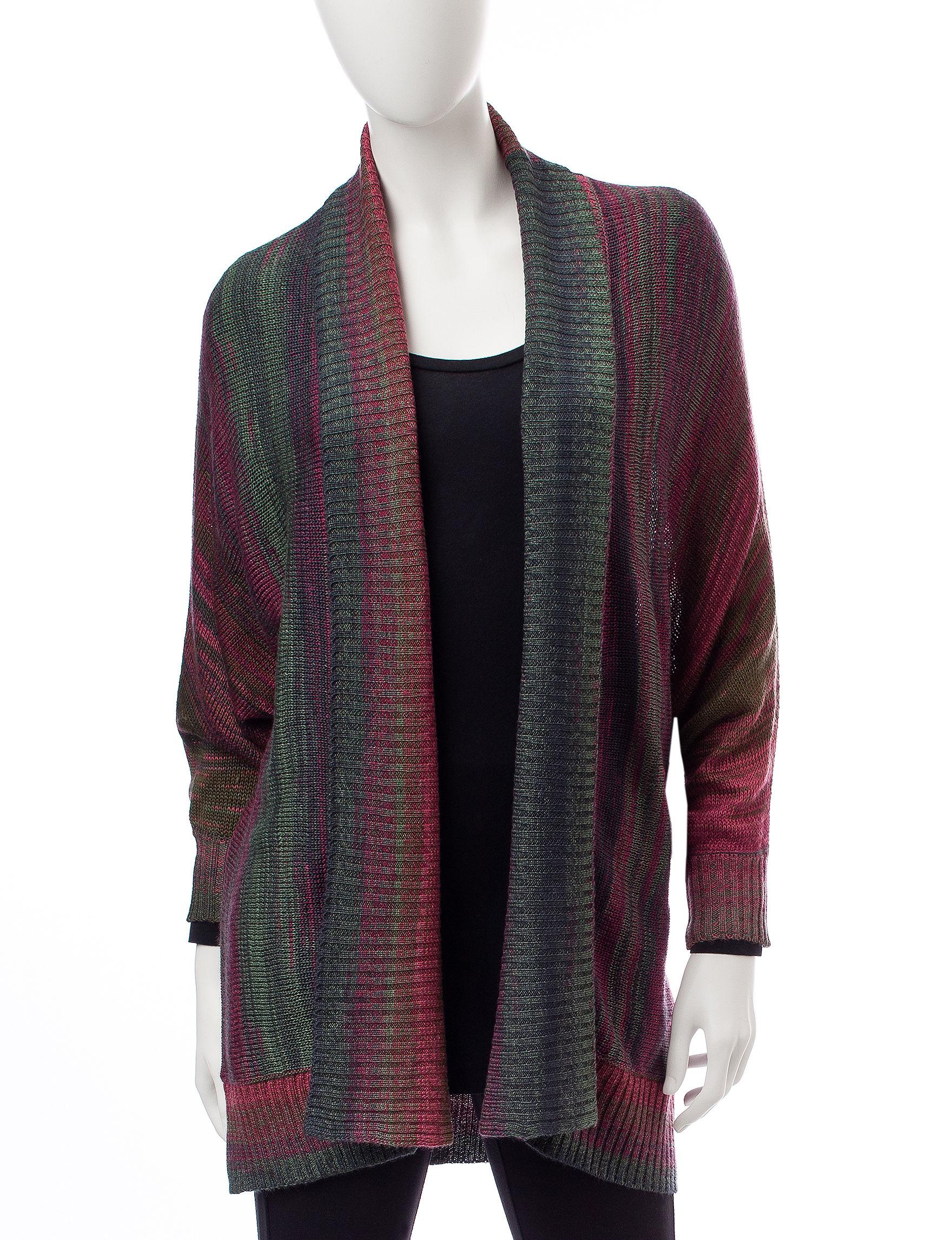 Hannah Green Multi Cardigans Sweaters