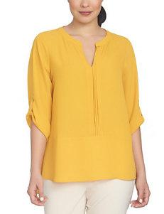 Chaus Dark Yellow Shirts & Blouses