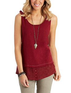 Democracy Dark Red Camisoles & Tanks