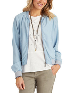 Democracy Light Blue Lightweight Jackets & Blazers