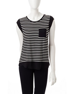 Calvin Klein Black / White Tees & Tanks