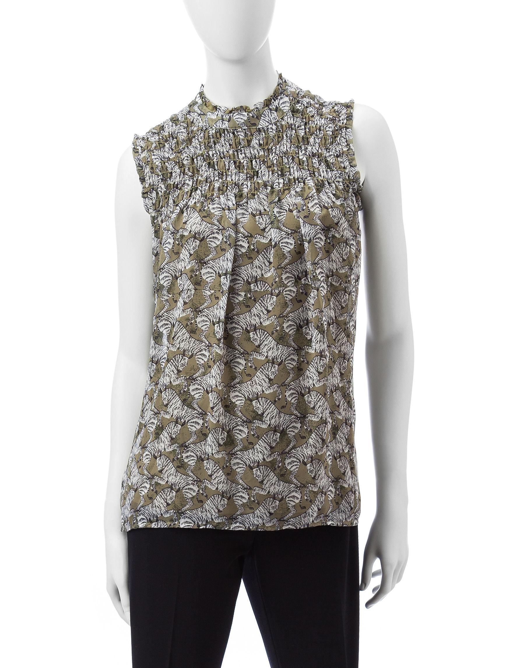 Valerie Stevens Green / Black Shirts & Blouses