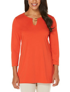 Rafaella Red Orange Shirts & Blouses