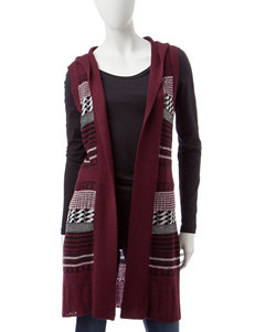 Hannah Burgundy Sweaters Vests