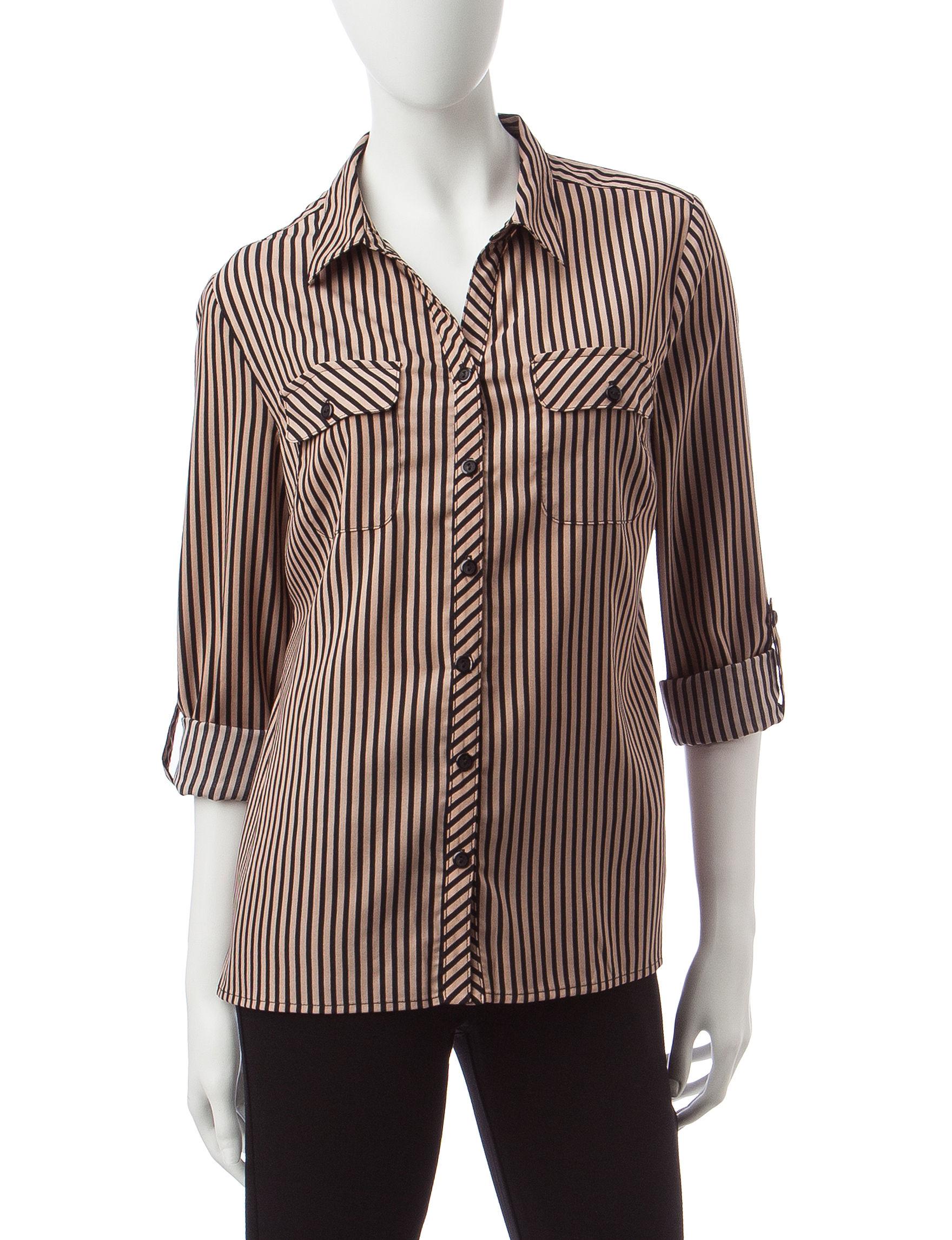 Notations Khaki Shirts & Blouses