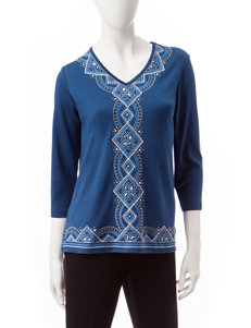Alfred Dunner Lapis Shirts & Blouses