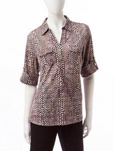 Rebecca Malone Black Snake Shirts & Blouses