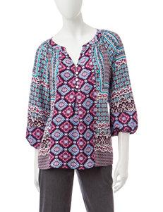 Valerie Stevens Plum Shirts & Blouses