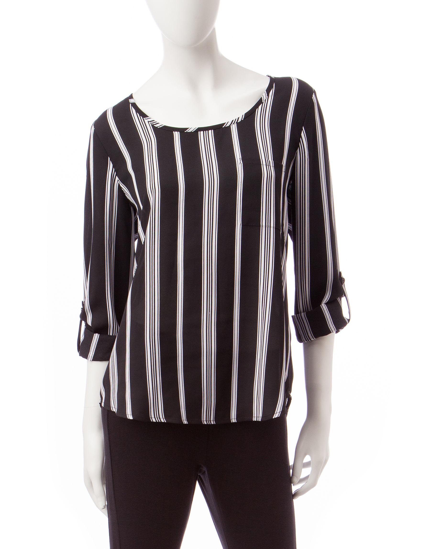 Valerie Stevens Jet Black Shirts & Blouses