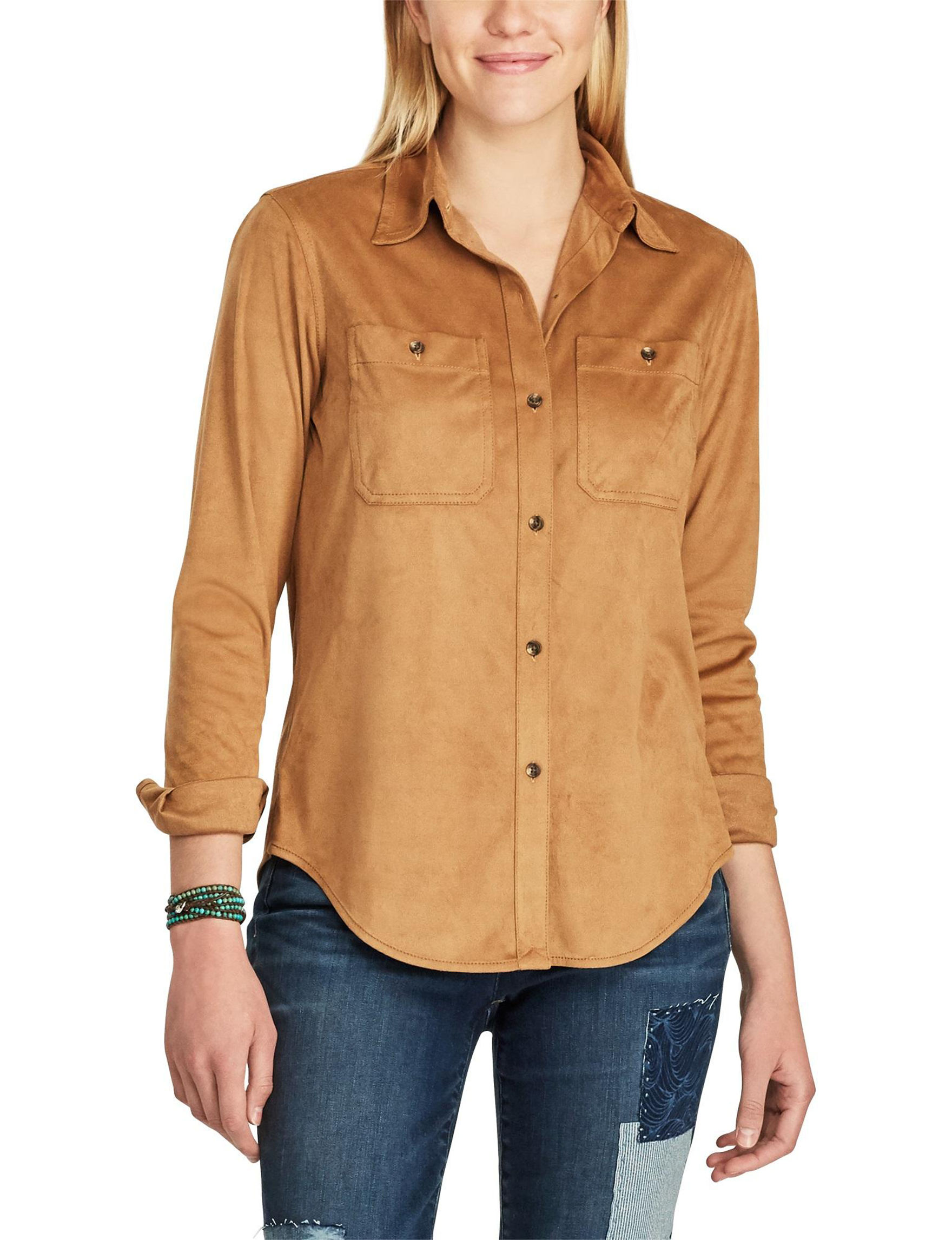 Chaps Brown Shirts & Blouses