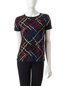 Anne Klein Black / Multi Shirts & Blouses