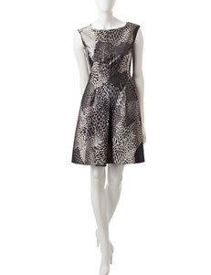 Anne Klein Grey Evening & Formal Fit & Flare Dresses