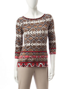 Ruby Road Brown / Multi Shirts & Blouses
