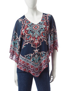 Ruby Road Dark Blue Pull-overs Shirts & Blouses