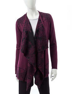 Rebecca Malone Dark Red Cardigans Sweaters