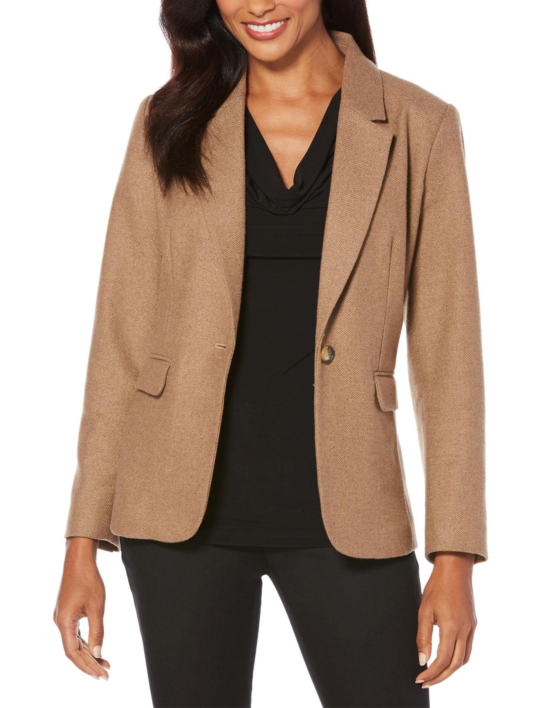 Rafaella Beige Lightweight Jackets & Blazers