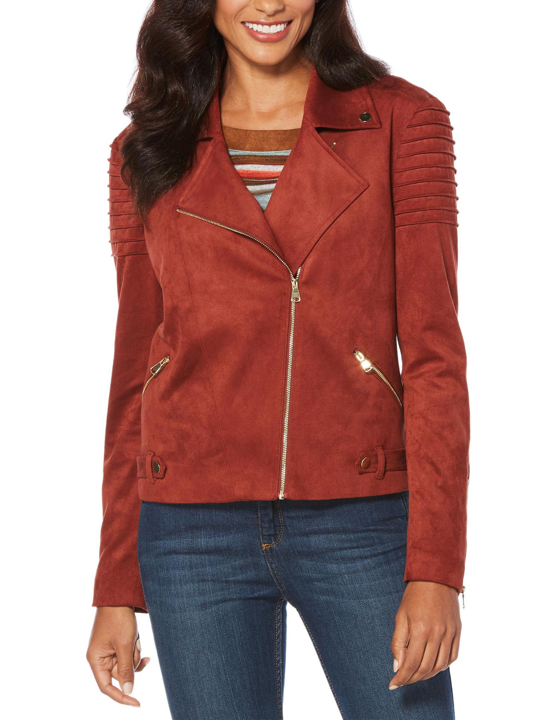 Rafaella Red Lightweight Jackets & Blazers