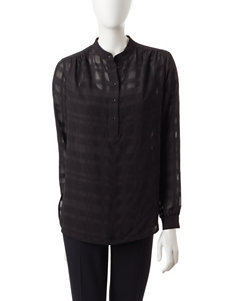 Anne Klein Black Shirts & Blouses