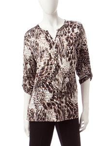 Rebecca Malone Black / Grey Shirts & Blouses
