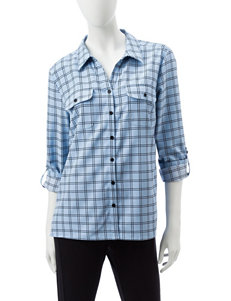 Notations Blue Shirts & Blouses